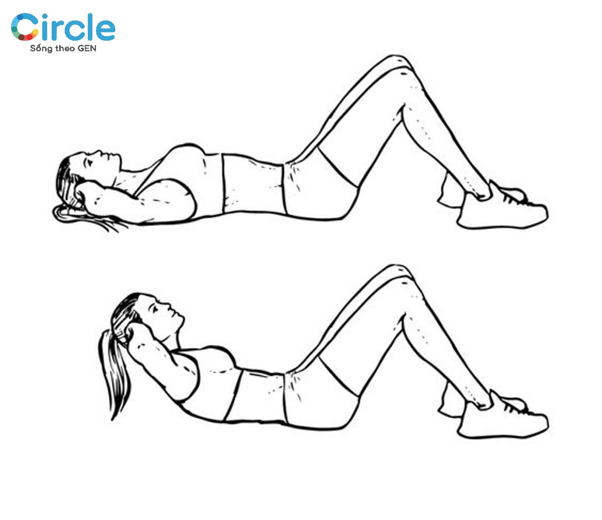 Động tác này nhìn thì có vẻ đơn giản nhưng khi thực hiện phần cơ bụng của bạn sẽ cảm nhận độ rung và mỏi rõ rệt đấy! Hãy cố gắng nhé!