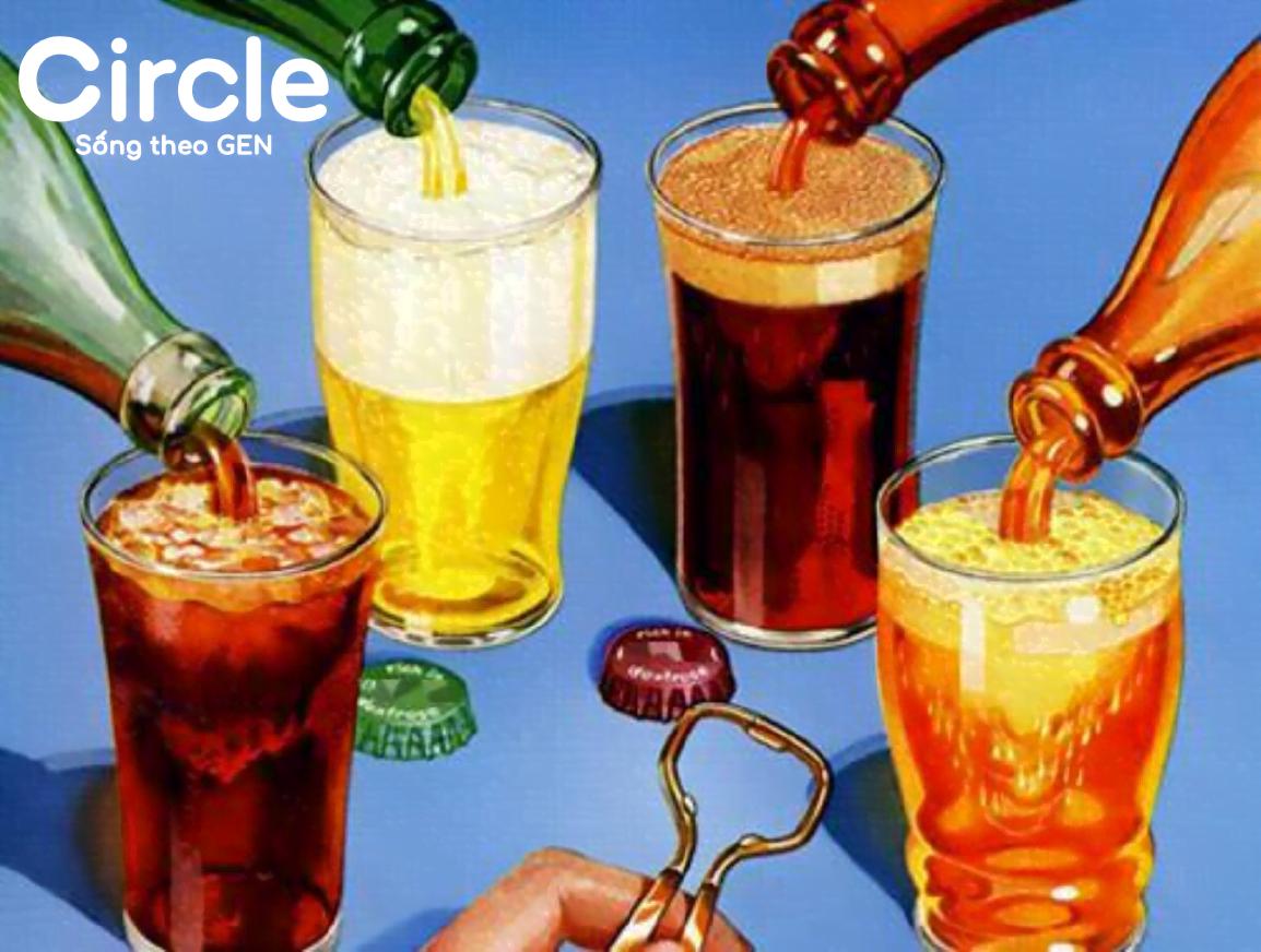 """Đồ uống có ga là """"kẻ địch"""" của chế độ ăn tăng vòng 1, vòng 3"""