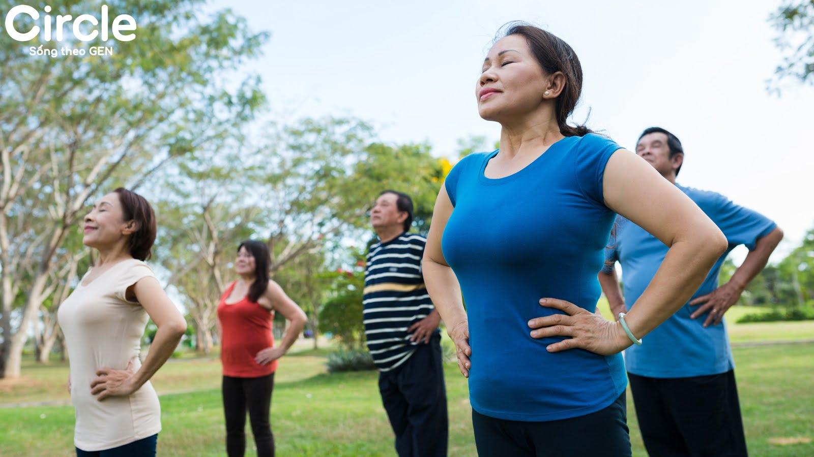 bài tập thể dục cho người cao tuổi