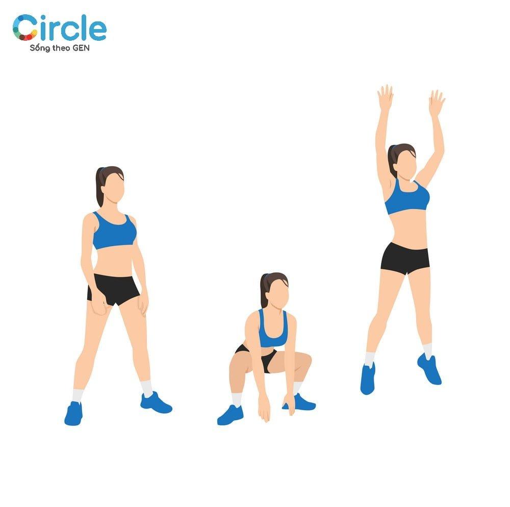 Nhảy cóc là bài tập đơn giản đáng để thử trong số các bài tập thể dục toàn thân.