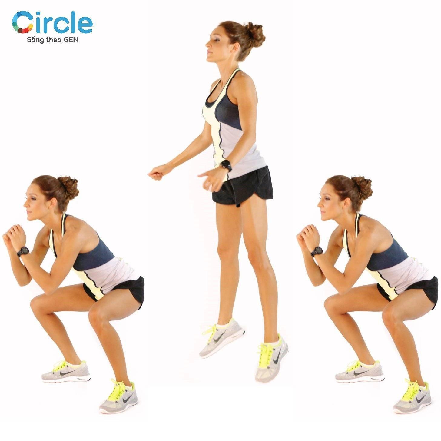 Quá quen thuộc với bài tập squat thông thường? Hãy thử bài tập giảm mỡ toàn thân Squat Jumps mới mẻ này nào!