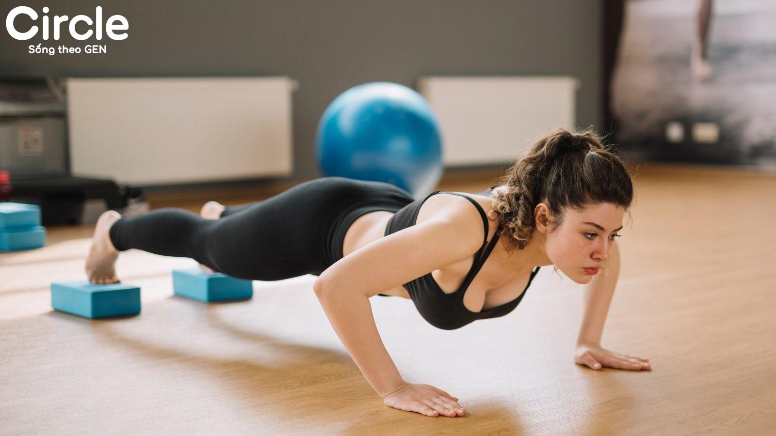 bài tập thể dục hít đất